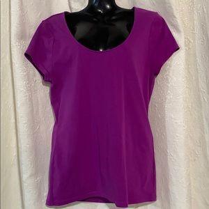 LRL capped sleeve purple t-shirt